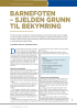 BARNEFOTEN - SJELDEN GRUNN TIL BEKYMRING