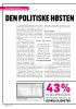 DEN POLITISKE HØSTEN ER I GANG