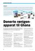 Donerte røntgenapparat til Ghana