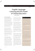 English Language Learning and the Power of Online Education