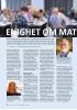 ENIGHET OM MAT ALLERGI-SATSING