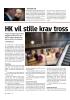 HK vil stille krav tross krisa