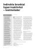 Indirekte bronkial hyperreaktivitet - testmetoder