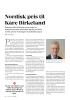 Nordisk pris til Kåre Birkeland