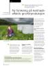 Ny forskning på kostnadseffektiv grovfôrproduksjon