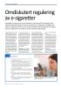 Omdiskutert regulering av e-sigaretter