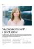 Skjebneuker for AFP i privat sektor