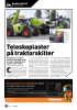 Teleskoplaster på traktorskilter