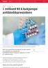1 milliard til å bekjempe antibiotikaresistens