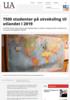 7500 studenter på utveksling til utlandet i 2019