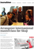 Arrangerer internasjonal masterclass før Skup