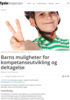 Barns muligheter for kompetanseutvikling og deltagelse
