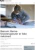 Bærum: Barne-fysioterapeuter er ikke vaksinert