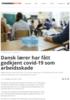 Dansk lærer har fått godkjent covid-19 som arbeidsskade