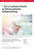 - Det er uetiske forhold på Rikshospitalets nyfødtavdeling
