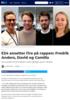 E24 ansetter fire på rappen: Fredrik Anders, David og Camilla