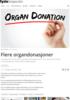 Flere organdonasjoner