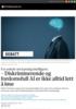 For enkelt om kunstig intelligens: - Diskriminerende og fordomsfull AI er ikke alltid lett å løse