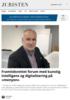 Framtidsrettet forum med kunstig intelligens og digitalisering på «menyen»