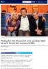 Fredag har Jon Almaas sin siste sending i Nytt på nytt. Da blir det reunion på NRK