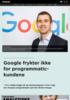 Google frykter ikke for programmatic-kundene
