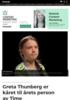 Greta Thunberg er kåret til årets person av Time
