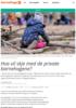 Hva vil skje med de private barnehagene?