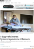 I dag vaksineres fysioterapeutene i Bærum