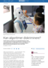 Kan algoritmer diskriminere?