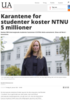 Karantene for studenter koster NTNU 5 millioner