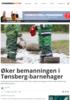 Øker bemanningen i Tønsberg-barnehager