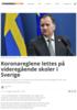 Koronareglene lettes på videregående skoler i Sverige