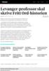 Levanger-professor skal skrive Fritt Ord-historien