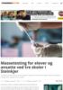 Massetesting for elever og ansatte ved tre skoler i Steinkjer