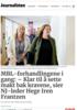 MBL-forhandlingene i gang: - Klar til å sette makt bak kravene, sier NJ-leder Hege Iren Frantzen