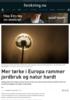 Mer tørke i Europa rammer jordbruk og natur hardt