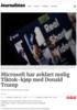 Microsoft har avklart mulig Tiktok-kjøp med Donald Trump