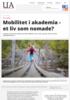 Mobilitet i akademia - et liv som nomade?