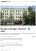 Moskva stenger skolene i to uker