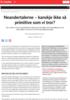 Neandertalerne - kanskje ikke så primitive som vi tror?