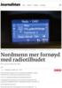 Nordmenn mer fornøyd med radiotilbudet