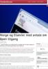 Norge og Elsevier med avtale om åpen tilgang