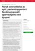 Norsk oversettelse av nytt, pasientrapportert flerdimensjonalt spørreskjema ved dyspné