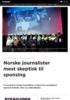 Norske journalister mest skeptisk til sponsing