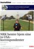 NRK henter hjem sine to USA-korrespondenter