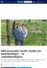 NRK-journalist skulle melde om kjedekollisjon - sa «skjedekollisjon»