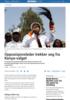 Opposisjonsleder trekker seg fra Kenya-valget