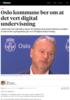 Oslo kommune ber om at det vert digital undervisning