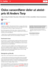 Oslos varaordfører deler ut ateistpris til Anders Torp
