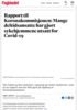 Rapport til Koronakommisjonen: Mange deltidsansatte har gjort sykehjemmene utsatt for Covid-19